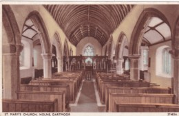 HOLNE -ST MARYS CHURCH INTERIOR - England