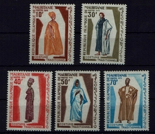 Mauritania Mauretanien 1970 - Trachten  Folk Costume - MiNr 405-409 - Kostüme