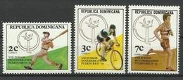 DOMINICAN REPUBLIC  1979  PANAMERICAN GAMES  SET  MNH - Dominicaine (République)