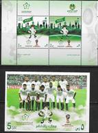 SAUDI ARABIA, 2019, MNH, FOOTBALL, SOCCER, FIFA WORLD CUP RUSSIA 2018, MASCOTS, SAUDI NATIONAL TEAM,SHEETLET+S/SHEET - World Cup