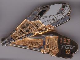 Pin's TGV DOUBLE MOULES SIGNE BALLARD N°133 - TGV