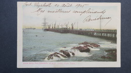 North Jetty , Port Elisabeth Cape Town 1905 Sent To France - South Africa