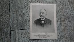 A H Rodanet Constructeur Chronomètre Marine Candidat Républicain Politique Portrait - Personnages