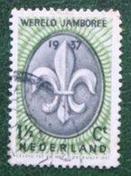 1½ Ct Wereld Jamboree Vogelenzang NVPH 293 (Mi 301) 1937 Gestempeld / USED NEDERLAND / NIEDERLANDE - Gebraucht