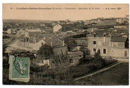 78 - Yvelines / CONFLANS Sainte HONORINE -- Panorama  - Quartier De La Gare. - Conflans Saint Honorine