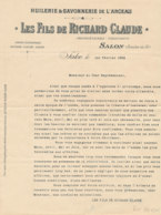 FA 1379- FACTURE  -HUILERIE SAVONNERIE   LES FILS DE RICHARD CLAUDE  SALON  1899 (bouches Du Rhone ) - Chemist's (drugstore) & Perfumery