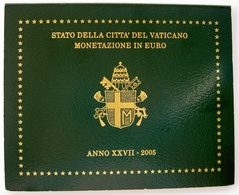 CITTA' DEL VATICANO DIVISIONALE 2005 XXVII PONTIFICATO GIOVANNI PAOLO II WOJTYLA JAN PAWEL VATICAN CITY ORIGINAL SET UNC - Vaticaanstad