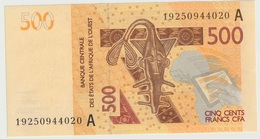 Billet De 500 Francs CFA XOF Non Circulé Afrique De L'Ouest Origine Cote D'Ivoire - Côte D'Ivoire