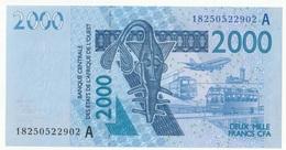 Billet De 2000 Francs CFA XOF Non Circulé Afrique De L'Ouest Origine Cote D'Ivoire - Côte D'Ivoire
