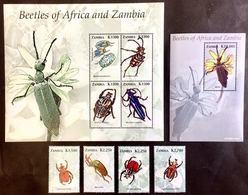 #Zambia 2005** Mi.1499-1507  Beetles MNH [20;124] - Insekten