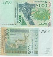 Billet De 5000 Francs 2003 CFA XOF Afrique Occidentale Non Circulé Sortie Du Distributeur - Côte D'Ivoire