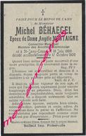 1930-Saint Jans Cappel (59) Michel BEHAEGEL-conseiller Municipal Né En 1900 époux Angèle Montaigne - Décès