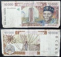 Billet De 10 000 Francs Afrique De L'Ouest Origine Cote D'Ivoire - Côte D'Ivoire