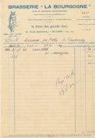 FA 1434 - FACTURE   BRASSERIE LA BOURGOGNE  LA BIERE DES GRANDS DUCSS DIJON  1952 - Alimentaire