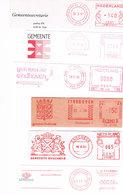 Niederlande 6 Absenderfreistempel Echt, Enschede, Eindhoven - Wappen, Blason - Meterstamp, EMA - Poststempel - Freistempel