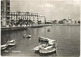 W3588 Bari - Panorama Del Lungomare Col Teatro Margherita - Barche Boats Bateaux / Viaggiata 1954 - Bari
