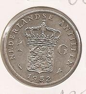 NETHERLANDS ANTILLES  ANTILHAS HOLANDESAS ANTILLES NEERLANDAISES 1 Gulden 1952 AG 125 - [ 4] Colonies
