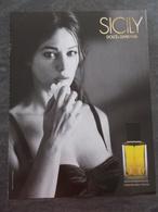 Publicité Papier Parfum - Perfume Ad : DOLCE & GABBANA Sicily Russie 2003 - Advertisings (gazettes)