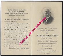 Guerre 1914-A Voir Et à Lire- Bailleul (59) 1935-Albert CORTYL Maire-1917-1918-croix De Guerre-officier Ordre Britanniqu - Décès