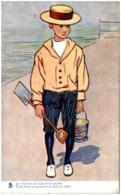 Petit Garçon Au Bord De La Plage - Je Cherche Un Endroit Favorable - 1900-1949