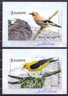 Belgie - 2019 - OBP - 2 Max. Kaarten - **  Vogels - Vlaamse Gaai - Wielewaal - Kris Maes ** Uitgifte Bpost - Maximum Cards