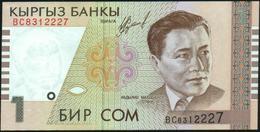 KYRGYZSTAN - 1 Som 1999 {Kyrgyz Banky} UNC P.15 - Kyrgyzstan