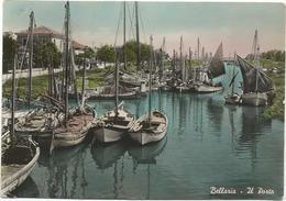 W3597 Bellaria (Rimini) - Porto Canale - Barche Boats Bateaux / Viaggiata 1954 - Italie