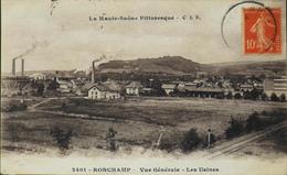 CPA. - FR. [70] Haute Saône > Autres Communes > Ronchamp Vue Générale Et Les Usines Daté 1916 - TBE - Otros Municipios