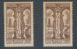 CX-24:  FRANCE:  Lot Avec N°302**(2) (jauni) - Unused Stamps