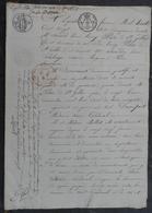 Manuscrit De1818.Mme Vve Cordival Vend à M.De Morant Des Terres à Merville,Varaville Près Caen. - Manuscrits