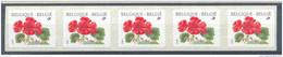 OCB Nr 2854 R91 Buzin Flora Geranium Strip 5 Bande MNH !!!! - Rouleaux