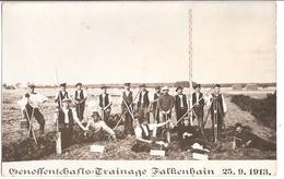 FALKENHAIN Brandenburg Gruppenfoto Genossenschafts Drainage Gelaufen 25.9.1913 Mit Ortsstempel CALAU - Calau
