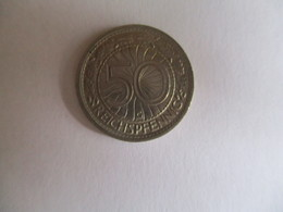 Germany: 50 Pfennig 1936 G - [ 4] 1933-1945 : Third Reich