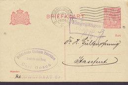 Netherlands Postal Stationery Ganzsache HOLLANDSCHE GUOLEUM FABRIEKEN, 's-GRAVENHAGE 1920 STRASSFURT Germany - Ganzsachen