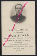 Guerre 1914-Faire-part De Décès Jules STAES 273eR Prisonnier Mort En Captivité En 1916 à Rieneck (Bavière)- Né Bailleul - Décès