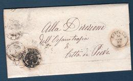Prefilatelica  1869 Da SARTEANO Per Citta Della Pieve - 1. ...-1850 Prefilatelia