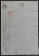 Manuscrit De1818.M.Demorant à Varaville Adjudicataire Des Biens Cordival à Merville,Varaville,..... - Manuscrits