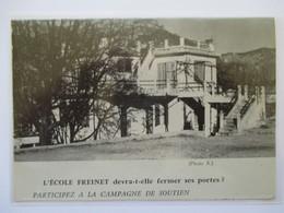 (1962) VENCE - L'Ecole FREINET Devra T-elle Fermer ? - Coupure De Presse Originale (encart Photo) - Historical Documents