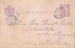 Netherlands Postal Stationery Ganzsache 2½c. Ziffer WASSENAAR 1889 LIKEURSTOFER In ROTTERDAM (2 Scans) - Ganzsachen