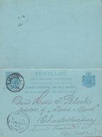 Netherlands UPU Postal Stationery Ganzsache 5/5c. Wilhelmina Met Betaald Antwoord AMSTERDAM 1895 CHARLOTTENBURG Berlin - Ganzsachen