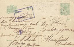 Netherlands (Uprated) Postal Stationery Ganzsache Bahnpost Railway Cds. ALKMAAR-AMSTERDAM 1919 STRASSFURT Germany - Ganzsachen