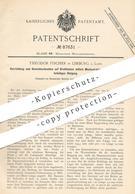 Original Patent - Theodor Fischer , Limburg / Lahn , 1895 , Gewindeschneiden Auf Drehbank | Metall | Stahl , Eisen !!! - Historische Dokumente