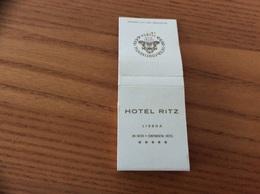 """Pochette D'allumettes Double Portugal """"HOTEL RITZ - INTER CONTINENTAL - LISBOA"""" - Boites D'allumettes"""