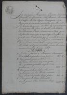 Manuscrit De1808.Rapport Du Géomètre Arpenteur Delamare à Gonneville,concernant Des Terres à Varaville. - Manuscrits