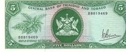 Trinidad & Tobago P.31a  5 Dollars 1977 Unc - Trinidad & Tobago