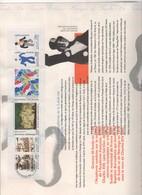 Documents De La Poste: RELATIONS CULTURELLES SUEDE/FRANCE 1994 NUMEROTE - Documents De La Poste
