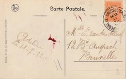 "AMBULANT : ZK PZ (B) 108 ""POPERINGHE - BRUSSEL (BRUXELLES) 14-18  18.VII.1912"" (code 10 D) - Ambulants"