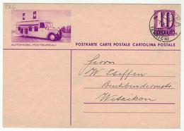 Suisse // Schweiz // Entier Postaux // Entier  Pour Wetzikon (Image Automobil-Postbureau) - Entiers Postaux