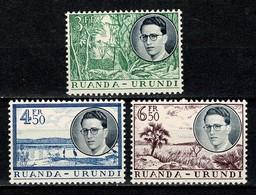 Ruanda Urundi 1955 OBP/COB 197/199** MNH - 1948-61: Neufs