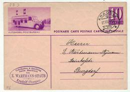 Suisse // Schweiz // Entier Postaux // Entier  Pour Burgdorf (Image Automobil-Postbureau) - Entiers Postaux